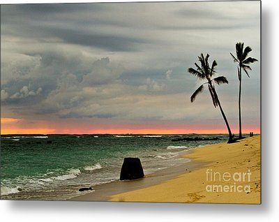 Barbers Point Sunset Metal Print by Terry Cotton