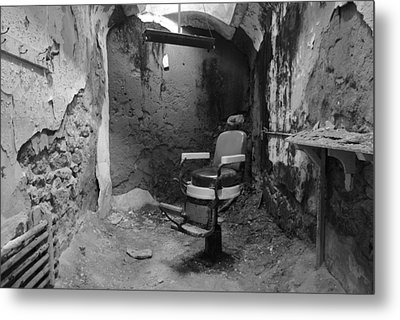 Prison Barbershop In Bw Metal Print