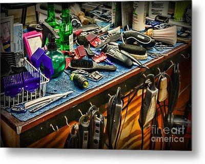 Barbershop - So Many Tools Metal Print