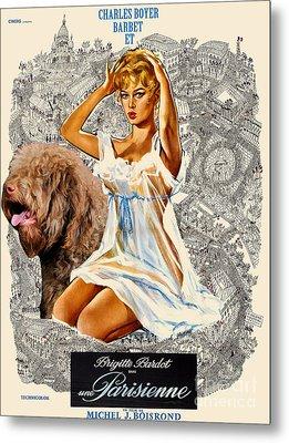 Barbet Art - Una Parisienne Movie Poster Metal Print by Sandra Sij