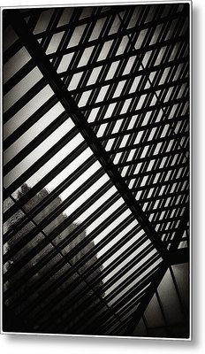 Barbican Grids Metal Print by Lenny Carter