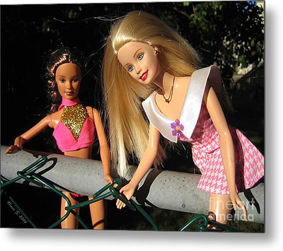 Metal Print featuring the photograph Barbie Escapes by Nina Silver