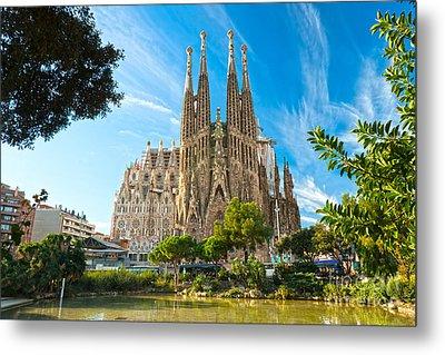 Barcelona - La Sagrada Familia Metal Print by Luciano Mortula