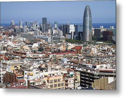 Metal Print featuring the photograph Barcelona Cityscape by Nathan Rupert