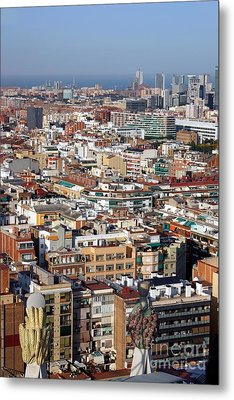 Barcelona Cityscape  Metal Print by Sophie Vigneault