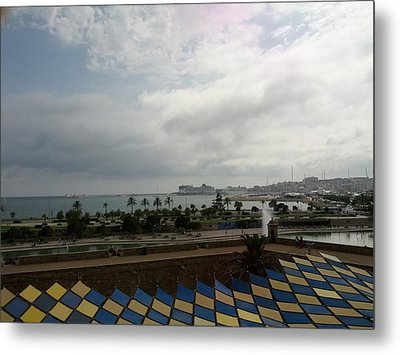 Barcelona Majestic View Metal Print by Shesh Tantry