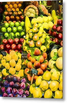Metal Print featuring the photograph Barcelona Market Fruit by Steven Sparks