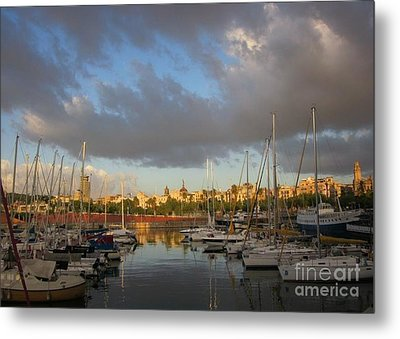 Barcelona Sunrise Metal Print