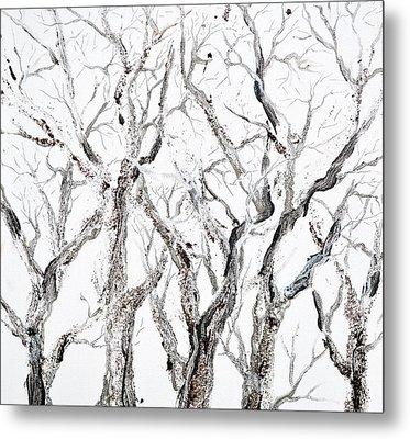 Bare Branches Print Option 2 Metal Print by Regina Valluzzi