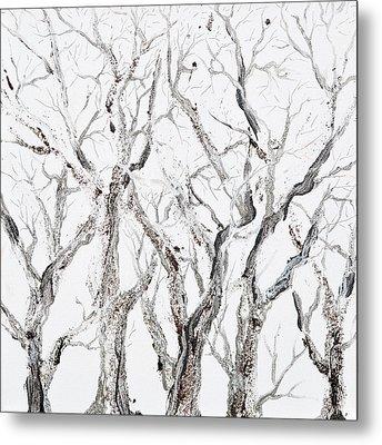 Bare Branches Metal Print by Regina Valluzzi