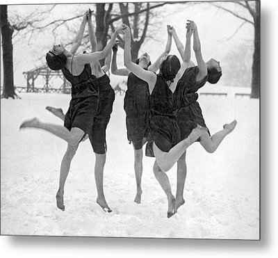 Barefoot Dance In The Snow Metal Print by Underwood
