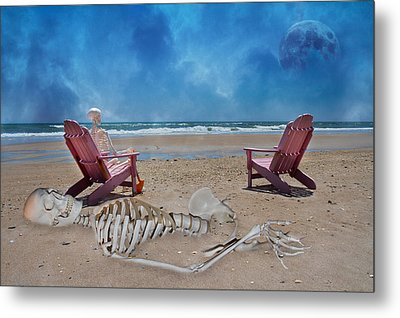Bargaining With The Moon Metal Print