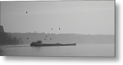 Barges Sail Birds Fly Metal Print
