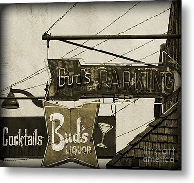 Metal Print featuring the photograph Barhopping At Buds 2 by Lee Craig