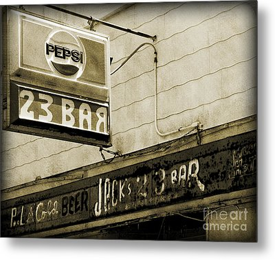 Metal Print featuring the photograph Barhopping At Jacks 2 by Lee Craig