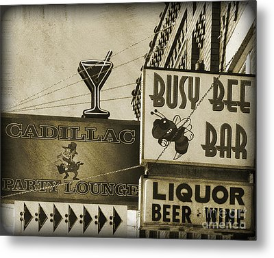 Metal Print featuring the photograph Barhopping Cadillac Style 2 by Lee Craig