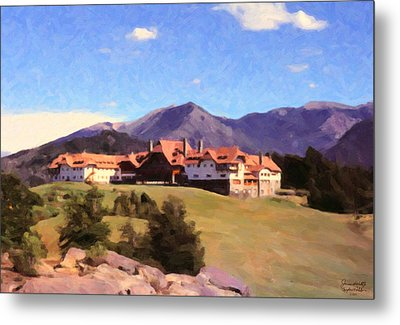 Metal Print featuring the painting Bariloche Argentina 1956 by Spyder Webb