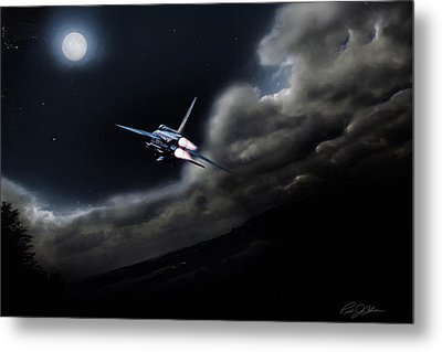 Bark At The Moon Metal Print by Peter Chilelli