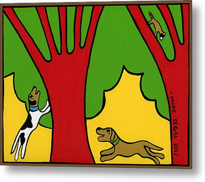 Barking Up The Wrong Tree Metal Print by Mike Segal