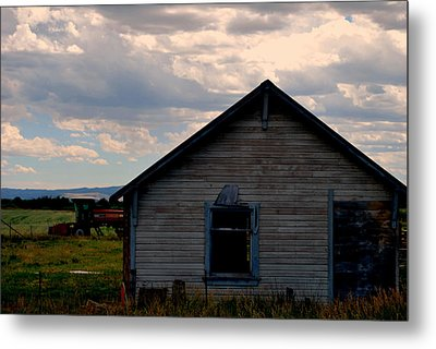 Barn And Tractor Metal Print by Matt Harang
