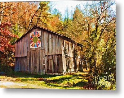 Barn At Red River Gorge Metal Print by Lena Auxier