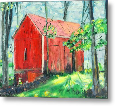 Barn At Walpack Metal Print