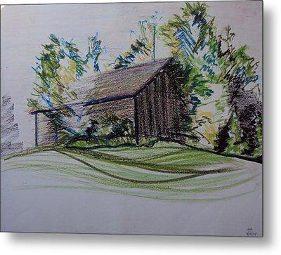 Old Barn At Wason Pond Metal Print