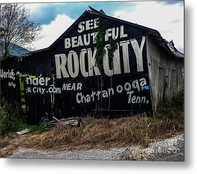 Barn Billboard Metal Print