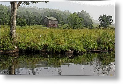 Barn By The Lake Metal Print by Patsy Zedar