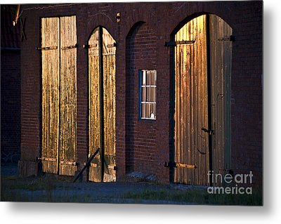 Barn Door Lighting Metal Print by Heiko Koehrer-Wagner