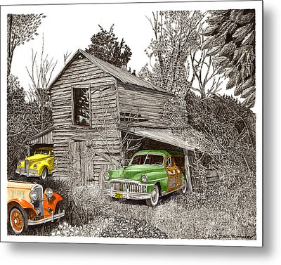 Barn Finds Classic Cars Metal Print by Jack Pumphrey