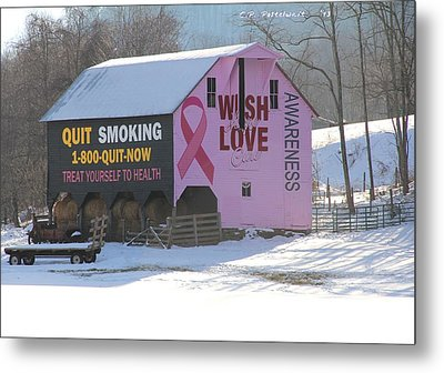 Barn For The Cure Metal Print by Carolyn Postelwait