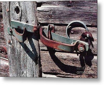 Metal Print featuring the photograph Barn Hinge by Susan Crossman Buscho