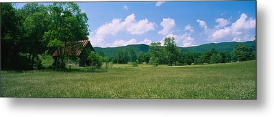 Barn In A Field, Cades Cove, Great Metal Print by Panoramic Images