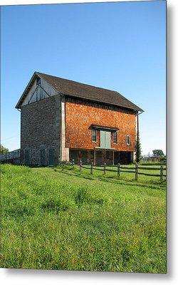 Barn In The Field Metal Print by David Nichols