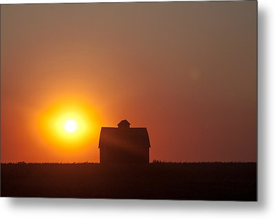 Barn Meets Sunset Metal Print