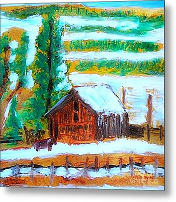 Barn Near Loa Utah 1 Metal Print by Richard W Linford