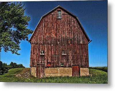 Barn On Kennedy Road Webster Ny Metal Print