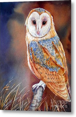 Barn Owl Metal Print by Patricia Pushaw