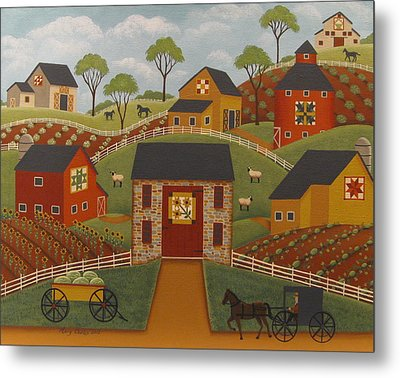 Barn Quilts Metal Print by Mary Charles