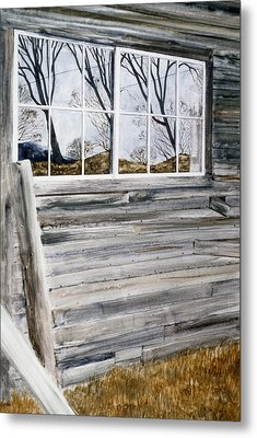Barn Reflection Metal Print by Karol Wyckoff