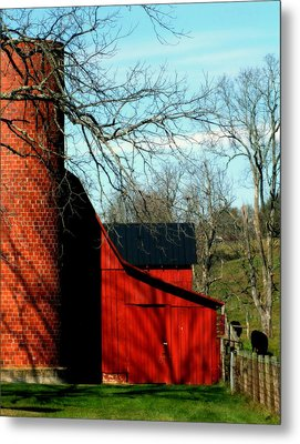 Barn Shadows Metal Print by Karen Wiles
