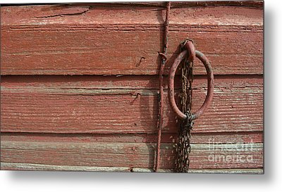 Barn Siding And Hardware Metal Print