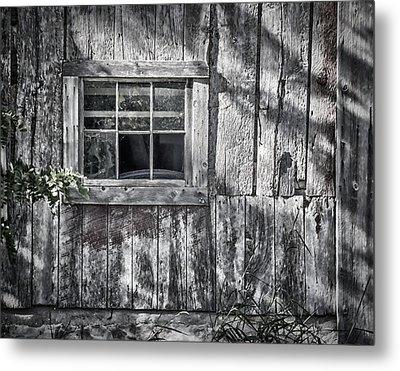 Barn Window Metal Print by Joan Carroll