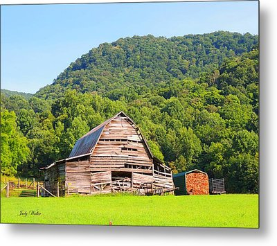 Barn Wood Metal Print