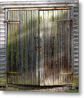Barndoors  Metal Print by Olivier Le Queinec