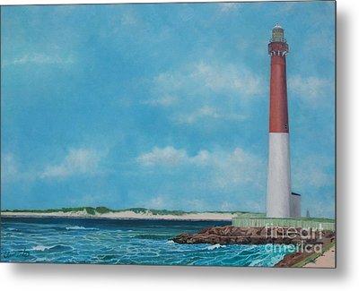 Barnegat Bay Lighthouse Metal Print by Barbara Barber