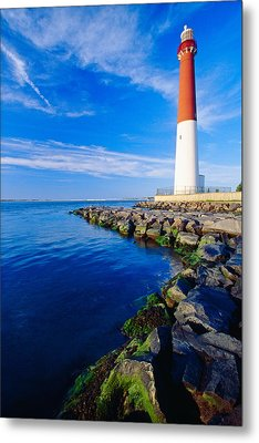 Barnegat Lighthouse Long Beach Island New Jersey Metal Print by George Oze
