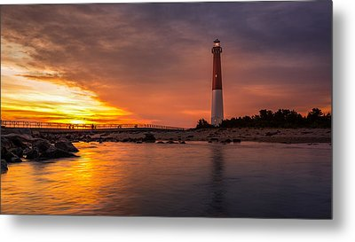 Barnegat Sunset Light Metal Print by Mihai Andritoiu