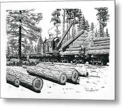 Barnhart Log Loader Metal Print